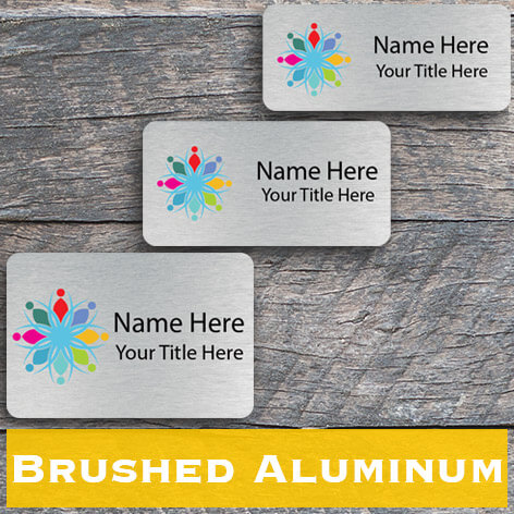 Metal Name Tags, Magnetic or Pin - Name Tag Wizard