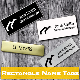 Engraved Name Badges With 2 Colors
