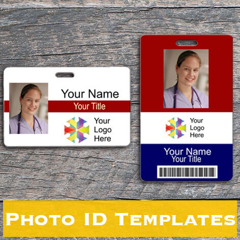 Photo Badges Design Picture Id Cards Online Name Tag Wizard