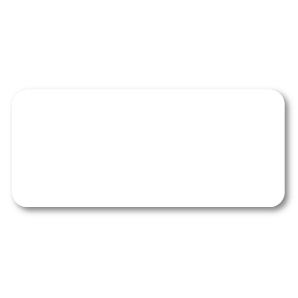 Reusable Chalkboard White Rectangle Name Tag