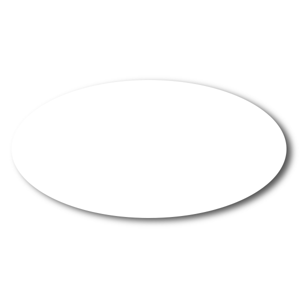 White Dry Erase Reusable Oval Name Tag