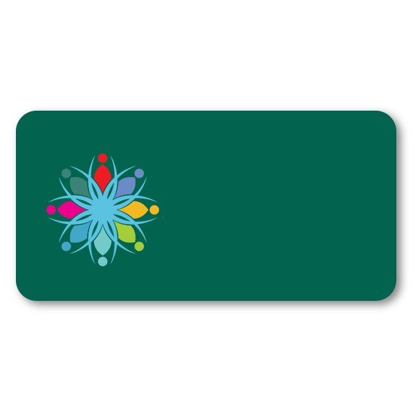 Customized 1.5 x 3 Chalkboard Reusable Name Tag - Blank