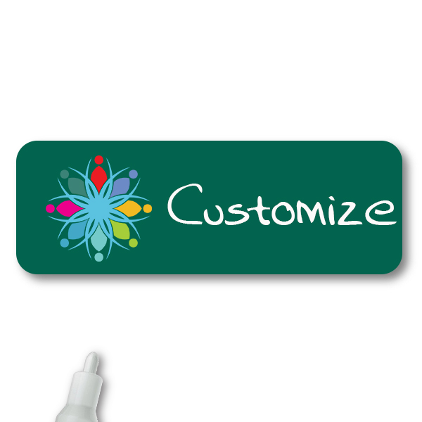 Customized 1 x 3 Chalkboard Reusable Name Tag