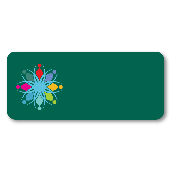 Customized 1.5 x 3.5 Chalkboard Reusable Name Tag - Blank