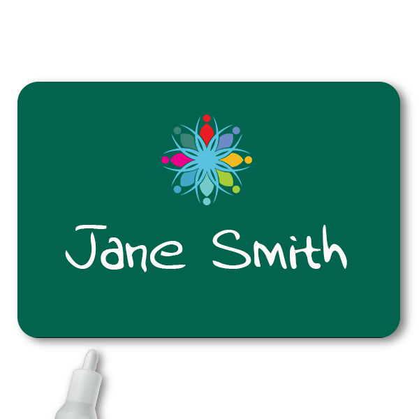 Customized 2 x 3 Chalkboard Reusable Name Tag - Example