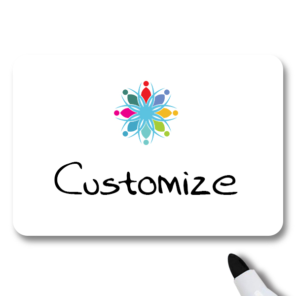 Customized 2 x 3 Dry Erase Name Tag