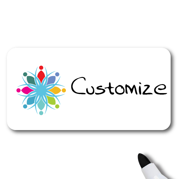 Customized 1.25 x 3 Dry Erase Name Tag