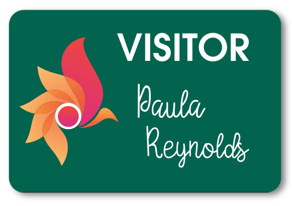 Visitor Chalkboard Rectangle Name Tag