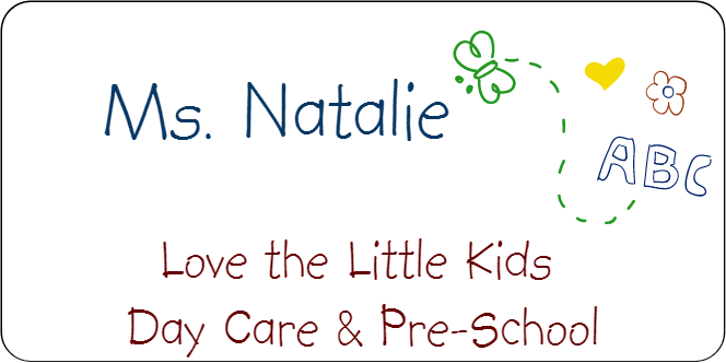 Day Care Butterfly Art 3 Line Name Tag