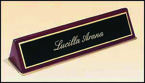 Desk Name Plate Wooden