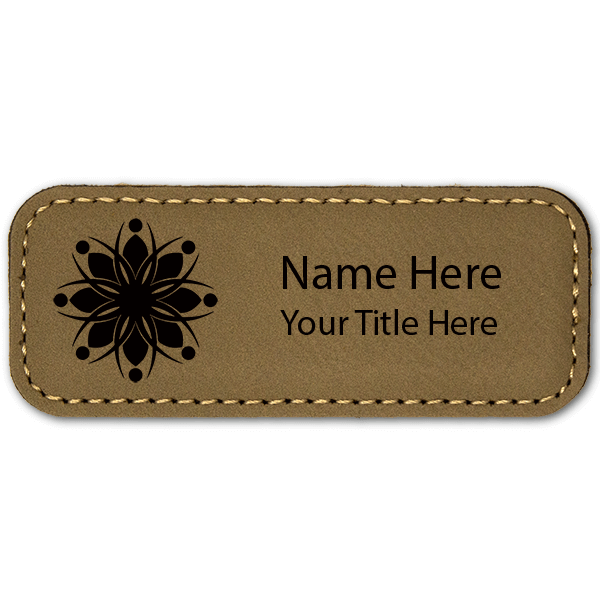 Leatherette Rectangle Magnetic Name Tag - 1.25