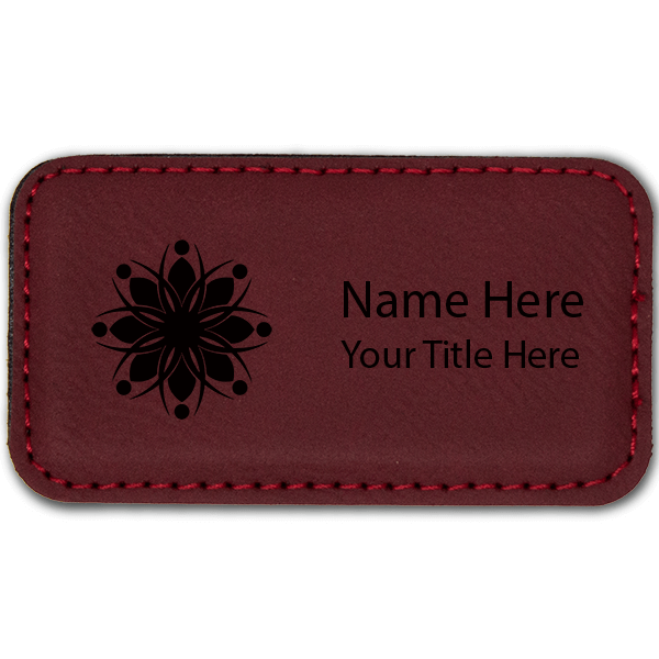 Leatherette Rectangle Magnetic Name Tag - 1.75