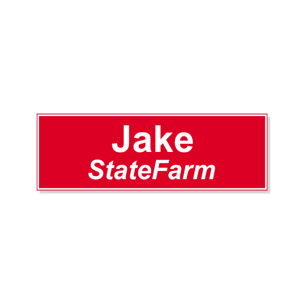 Jake From State Farm Name Tag
