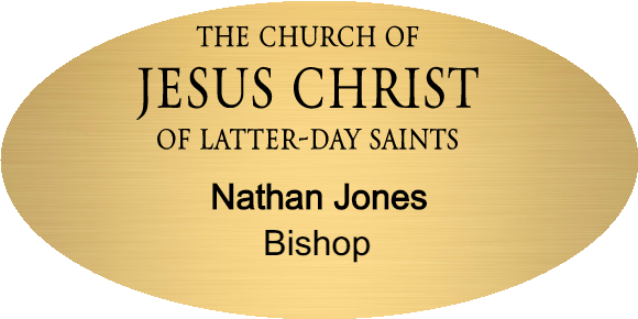 Church of Latter Day Saints Logo Name Tag - Oval