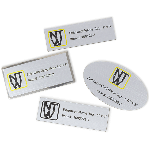 Name Tag Sample Kit - Name Tags