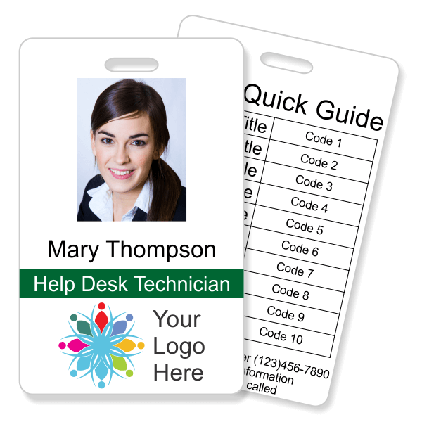 Double Sided Vertical Photo ID with Code Quick Guide