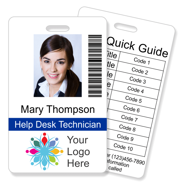 Double Sided Barcode Photo ID with Code Quick Guide