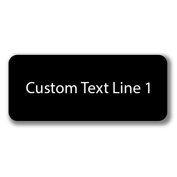 1 Line Laser Engraved Custom Name Tag