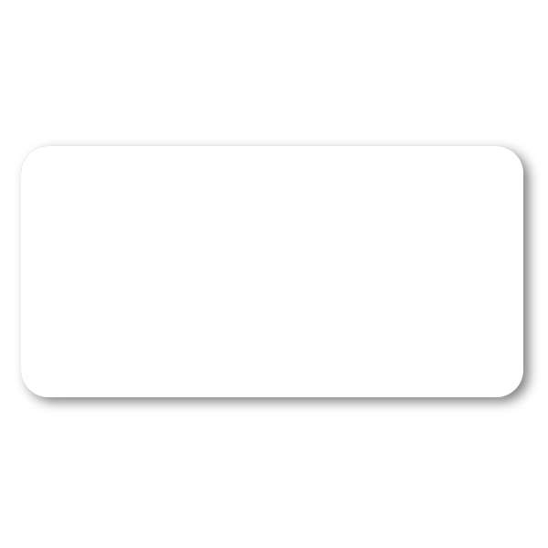 Dry Erase White Rectangle Name Tag