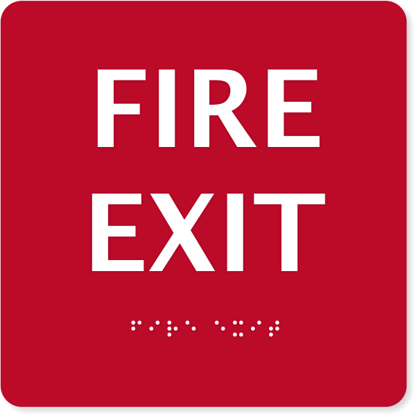 ADA Compliant Fire Exit Sign