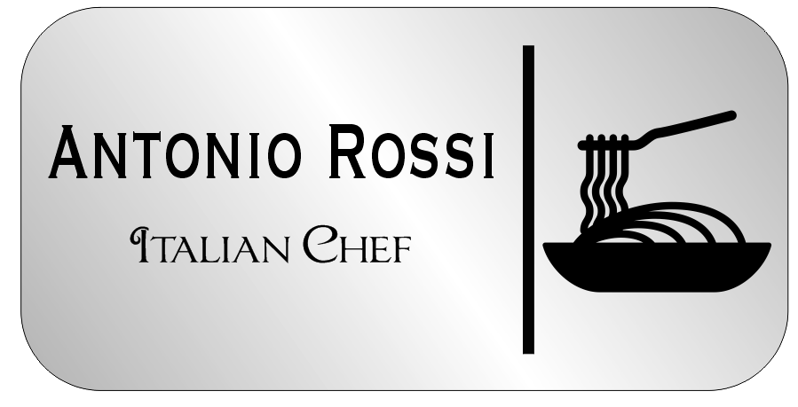 Italian Restaurant Names: Rectangle Italian Restaurant Name Tag