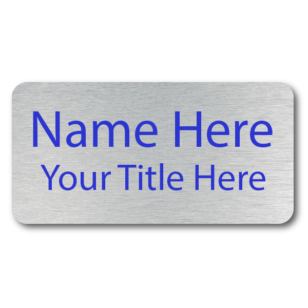 2 Line UV Printed Custom Name Tag