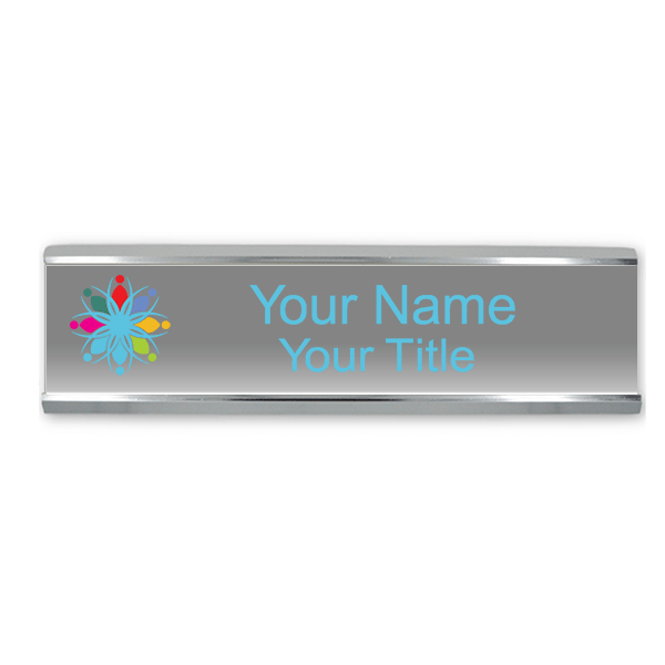 """Traditional 2"""" x 8"""" Wall Nameplate - Full Color"""