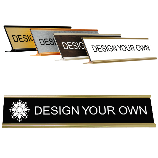 """Traditional 2"""" x 10"""" Desk Nameplate - Engraved"""