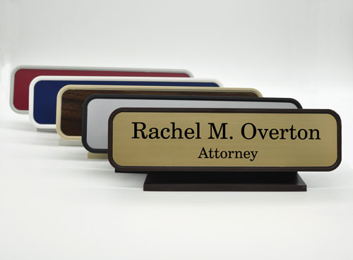 Classic Executive Desk Name Plate - Fully Customizable 2