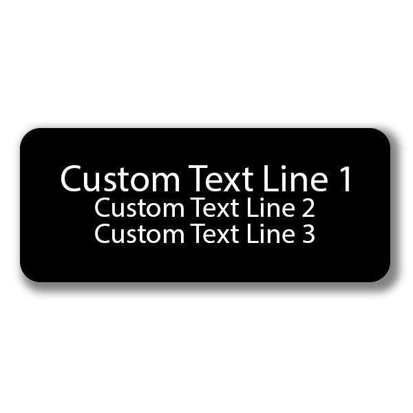 3 Line Laser Engraved Custom Name Tag