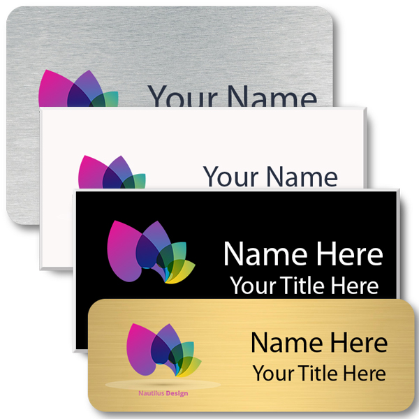 Full Color Rectangle Name Tag