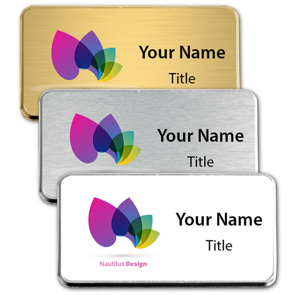 Medium Full Color Executive Badge w/Rounded Corners