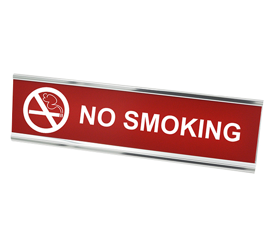 "No Smoking Desk Plate | 2"" x 8"""