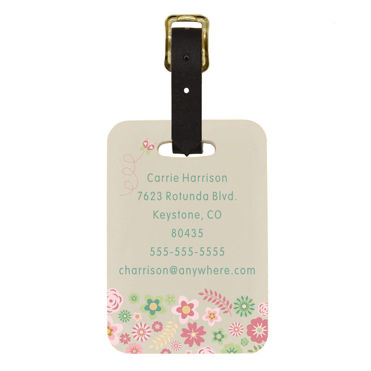 Floral Custom Luggage Tag