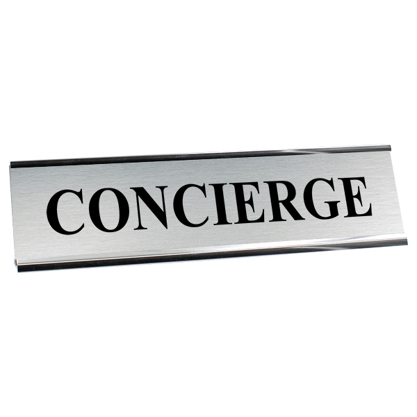 "Concierge Desk Plate | 2"" x 8"""