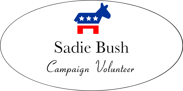 Oval Liberal Color Name Tag