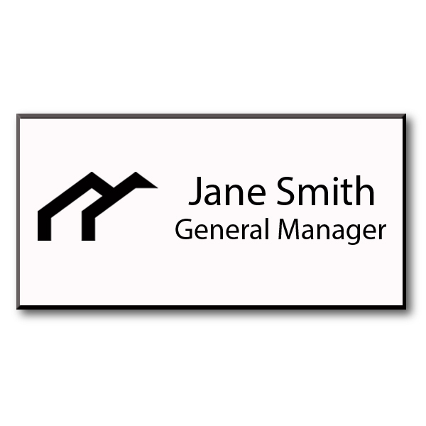 1.25X3 Laser Engraved Name Tag