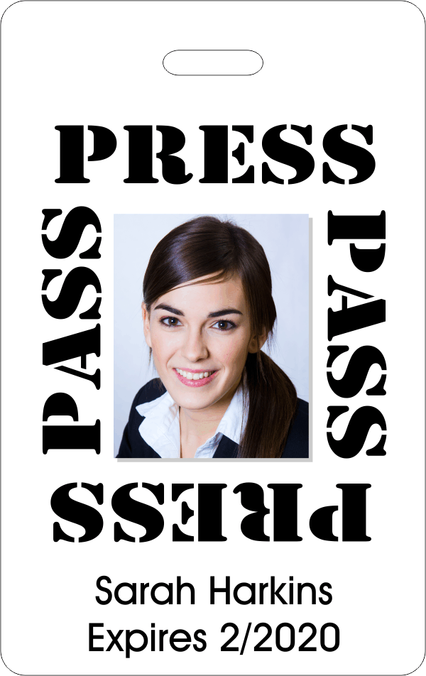 Basic Press Pass ID Badge