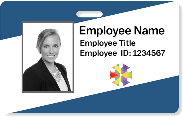 Diagonal Photo ID Badge