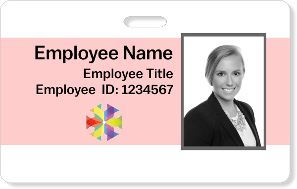 Center Color Photo ID Badge