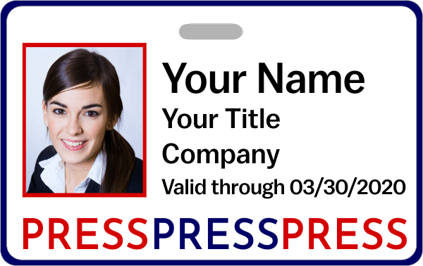 Colorful Press Pass ID Badge