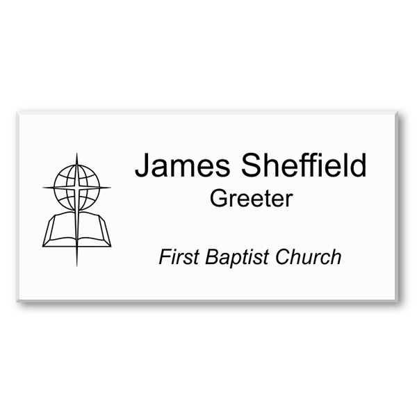 Three Line Engraved Baptist Name Tag