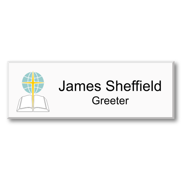 Color Baptist Name Tag
