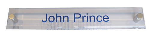 Acrylic Wall Name Plate Offset