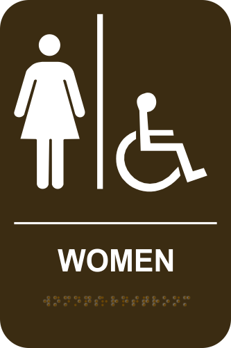 WOMEN ACCESSIBLE Stock Sign - Brown
