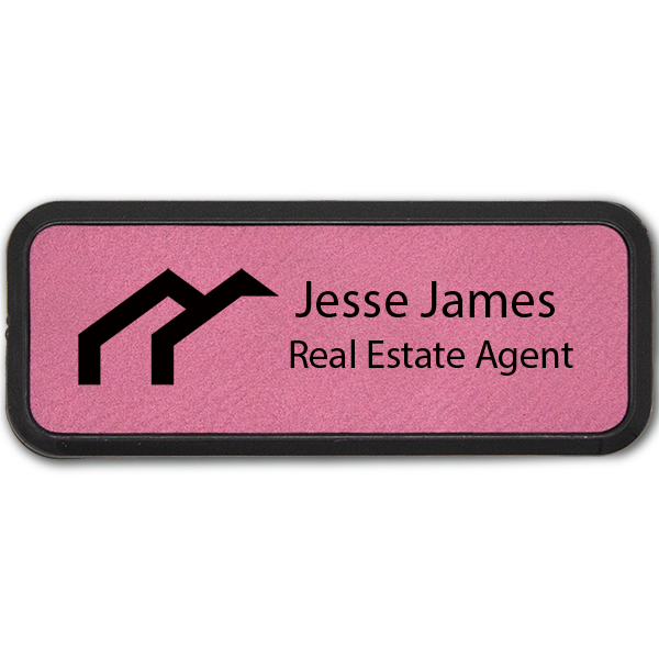 Arches Realtor Leatherette Frame Real Estate Name Tag