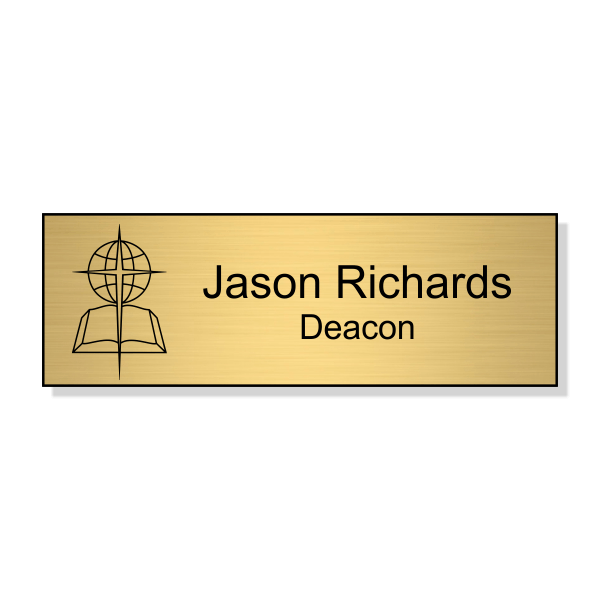 Baptist Engraved Name Tag - Rectangle