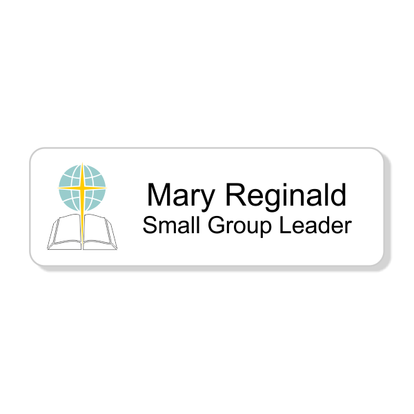 Baptist Full Color Name Tag - Rectangle