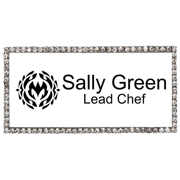 Bedazzled Restaurant Server Name Tag