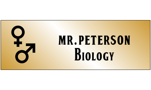Biology Rectangle 2 Line Name Badge A